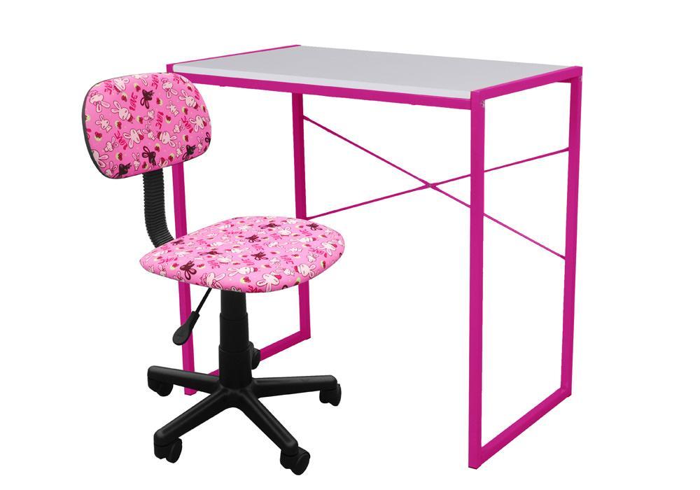 Biurko Zestaw różowy 1