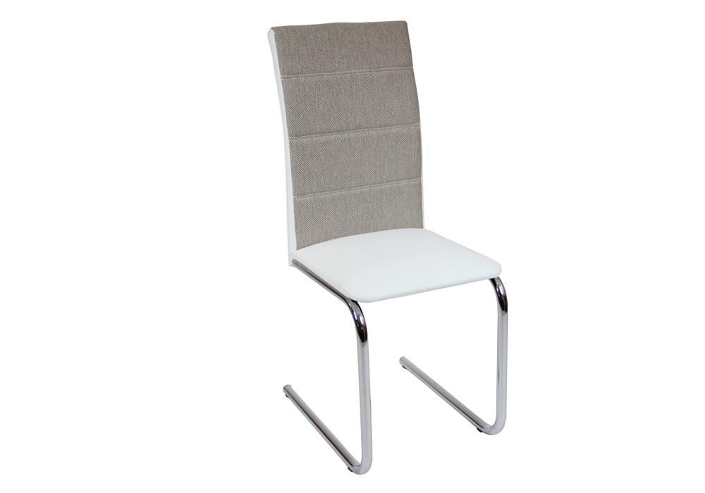 Krzesło DC2-006 biały+materiał 1