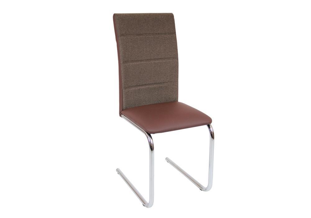 Krzesło DC2-006 brąz+materiał 1