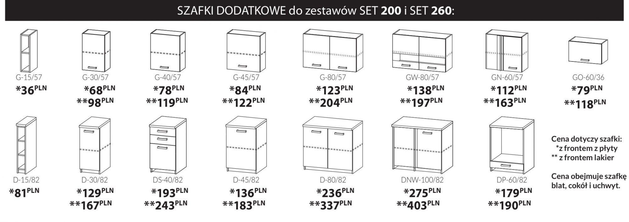 Kuchnia SET biały lakier połysk / dąb sonoma 200 4