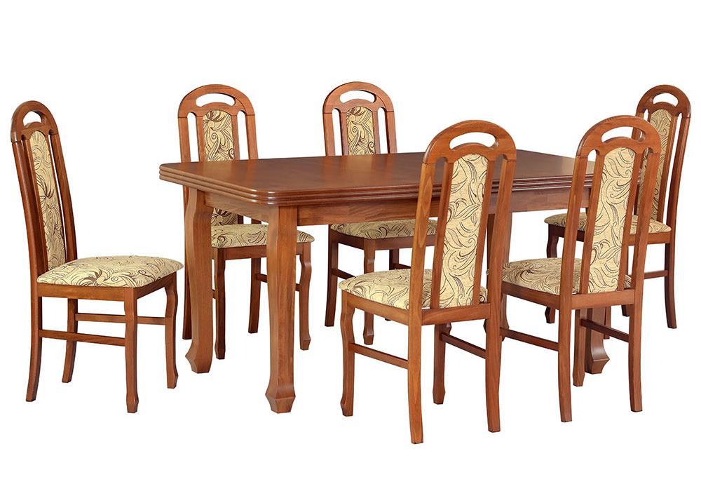 Zestaw stołowy Stół LUDWIK I, krzesła PIANO I 1