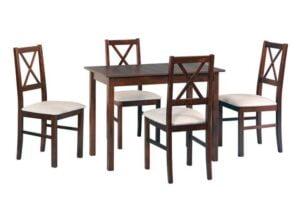 Zestaw stołowy Stół MAX II, krzesła NILO X