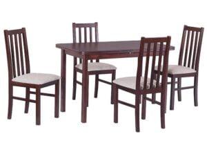 Zestaw stołowy Stół MAX IV, krzesła BOSS X