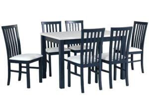 Zestaw stołowy Stół MAX V, krzesła MILANO I grafit