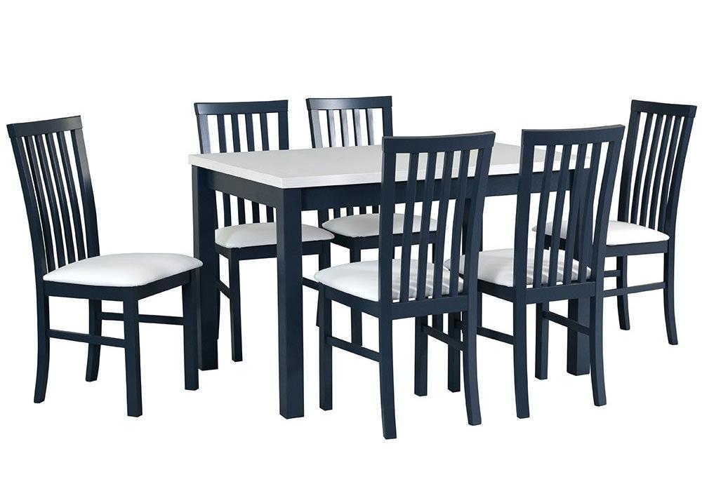 Zestaw stołowy Stół MAX V, krzesła MILANO I grafit 1