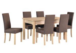 Zestaw stołowy Stół MODENA I, krzesła ROMA II