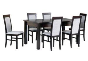 Zestaw stołowy Stół MODENA IV, krzesła NILO VI