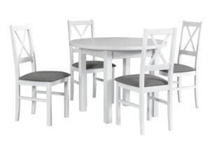 Zestaw stołowy Stół POLI II, krzesła NILO X