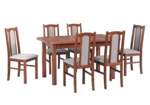 Zestaw stołowy Stół WENUS II L, krzesła BOSS VII