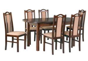 Zestaw stołowy Stół WENUS III, krzesła BOSS IX