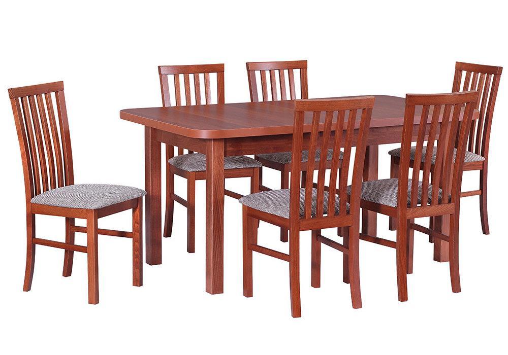 Zestaw stołowy Stół WENUS IV L, krzesła MILANO I 1