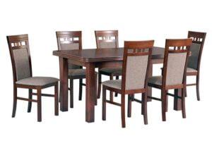Zestaw stołowy Stół WENUS V, krzesła MILANO