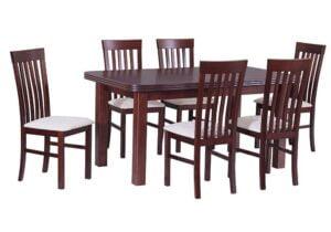 Zestaw stołowy Stół WENUS V, krzesła MILANO II