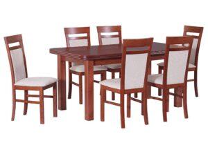 Zestaw stołowy Stół WENUS V, krzesła MILANO VI