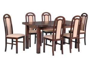 Zestaw stołowy Stół WENUS V, krzesła PIANO